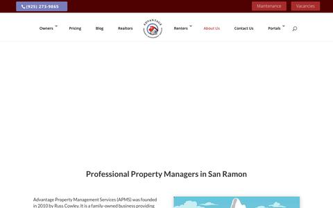 Screenshot of About Page advantagepms.com - Experienced and Professional Property Managers | Advantage PMS - captured Oct. 3, 2018