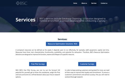Screenshot of Services Page businesssurveyconsultants.com - BSC - Surveys and Research - Business Survey Consultants - captured Oct. 5, 2014