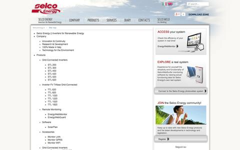 Screenshot of Site Map Page selco-energy-inverter.it - Site map - captured Oct. 3, 2014