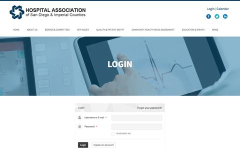 Screenshot of Login Page hasdic.org - Login | HASDIC - captured Nov. 12, 2016