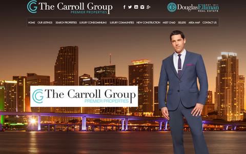 Screenshot of Home Page thechadcarrollgroup.com - The Chad Carroll Group presents Miami luxury real estate - captured Jan. 30, 2015