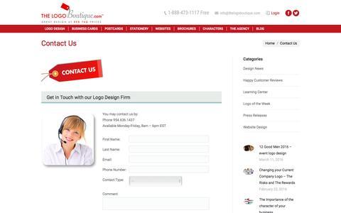 Screenshot of Contact Page thelogoboutique.com - Contact Us Logo Design | Custom Logo | The Logo Boutique - captured Nov. 29, 2016