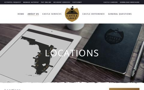 Screenshot of Locations Page castlegroup.com - Castle Group Office Locations   Florida Property Management Company - captured June 2, 2018