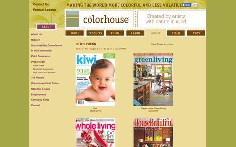 Screenshot of Press Page yolocolorhouse.com - YOLO Press Room – YOLO Colorhouse - captured Sept. 23, 2014