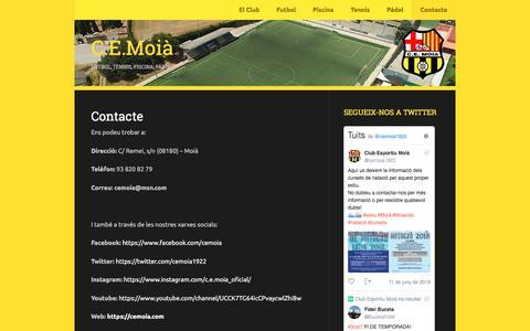 Screenshot of Contact Page wordpress.com - Contacte | C.E.Moià - captured June 28, 2018