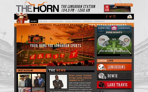 Screenshot of Home Page hornfm.com - Welcome - The Horn  The Horn - captured Dec. 6, 2015