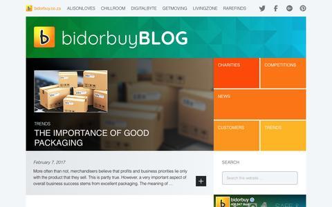 Screenshot of Blog bidorbuy.co.za captured Feb. 8, 2017