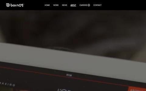 Screenshot of About Page born05.com - About - Born05 - captured Sept. 30, 2014