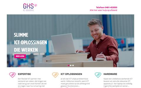 Screenshot of Home Page gks.nl - GKS ICT Solutions - Hardware, software en telefonie - captured Oct. 2, 2016