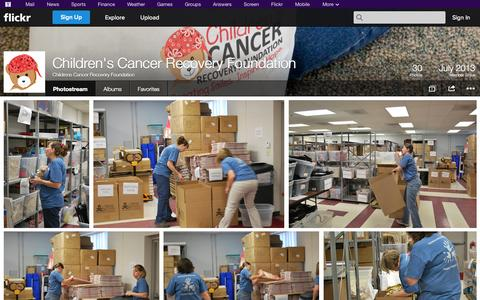 Screenshot of Flickr Page flickr.com - Flickr: Childrens Cancer Recovery Foundation's Photostream - captured Oct. 22, 2014