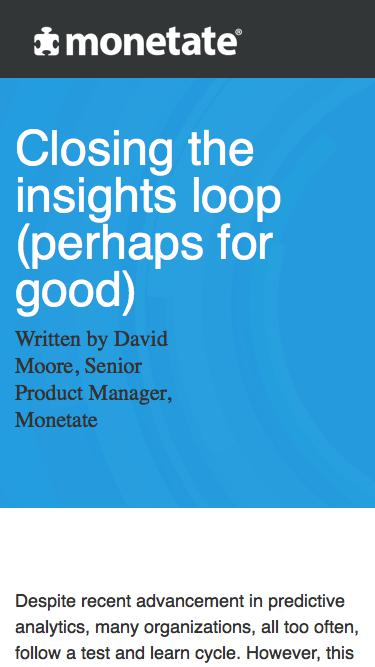 Closing the insights loop (perhaps for good) | Whitepaper from Monetate