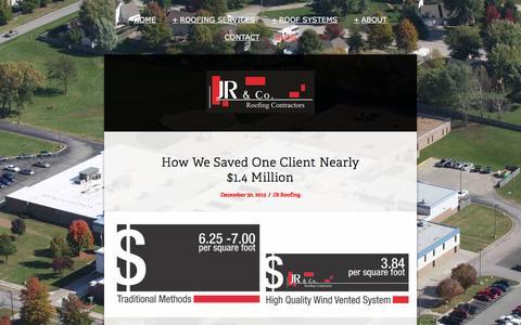 Screenshot of Blog jrroofinginc.com - Blog - captured Feb. 4, 2016