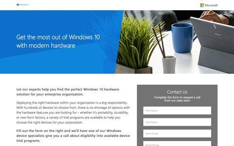 Screenshot of Landing Page microsoft.com - Microsoft   Windows Contact Me Form - captured Nov. 26, 2016