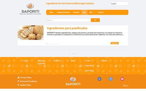 Screenshot of Blog gruposaporiti.com - Saporiti | Novedades - captured Oct. 4, 2014