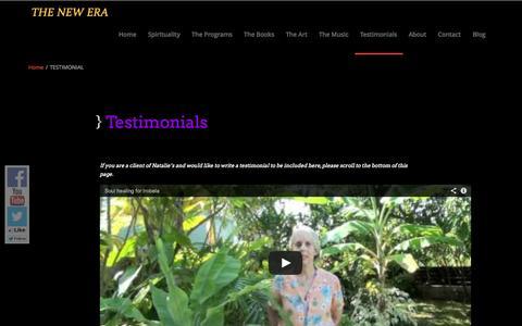 Screenshot of Testimonials Page holistichealingsoulpath.com - TESTIMONIAL - captured Sept. 30, 2014