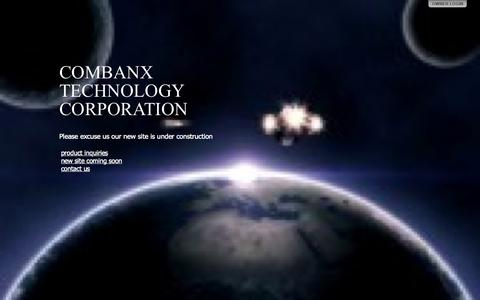 Screenshot of Home Page combanx.com - COMBANX TECHNOLOGY CORPORATION - captured Oct. 2, 2014