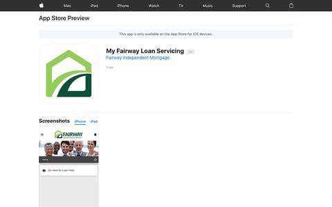 My Fairway Loan Servicing on the App Store