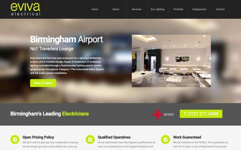 Screenshot of Home Page Blog evivaservices.co.uk - Birmingham Electrical Contractors | Birmingham Electricians - Eviva - captured Jan. 31, 2016