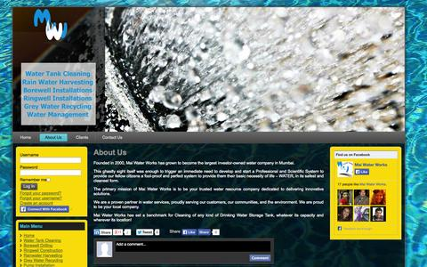 Screenshot of About Page maiwater.com - About Us - captured Oct. 4, 2014