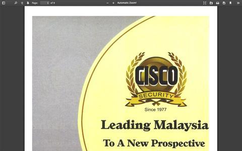 Screenshot of Home Page ciscosecurity.com - Cisco (M) Sdn. Bhd. - captured Oct. 2, 2014