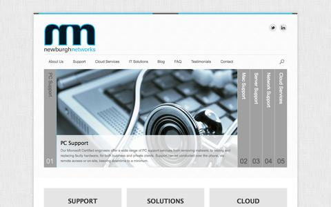 Screenshot of Home Page newburghnetworks.com - Newburgh Networks IT Services - captured Sept. 30, 2014