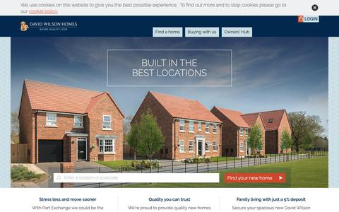 Screenshot of Home Page dwh.co.uk - David Wilson Homes | 5 Star Housebuilders - captured Dec. 17, 2018
