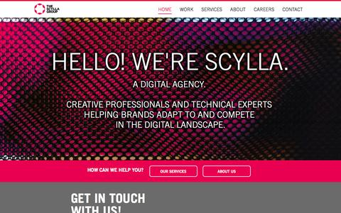 Screenshot of Home Page scyllagroup.com - The Scylla Group, Inc. | Digital Done Right - captured Oct. 6, 2014