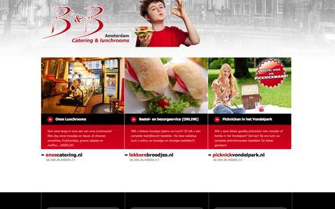 Screenshot of Home Page lekkerebroodjes.nl - LekkereBroodjes.nl - B&B Lunchrooms & Catering te Amsterdam - captured Oct. 2, 2014
