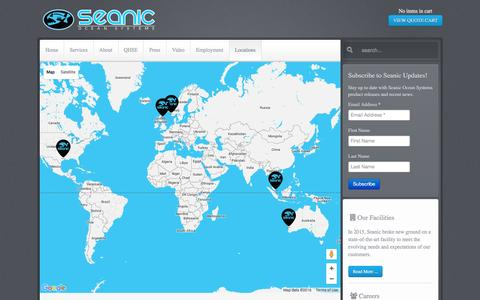 Screenshot of Locations Page seanicusa.com - Seanic Ocean Systems - Seanic USA | Office Locations - captured Jan. 20, 2016