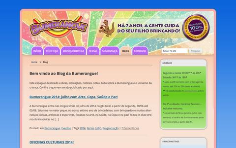 Screenshot of Blog brinquedotecabumerangue.com.br - Blog | Brinquedoteca Bumerangue - captured Oct. 5, 2014