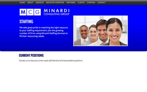 Screenshot of Jobs Page minardigroup.com - Jobs - Minardi Group Consulting - captured Feb. 27, 2016