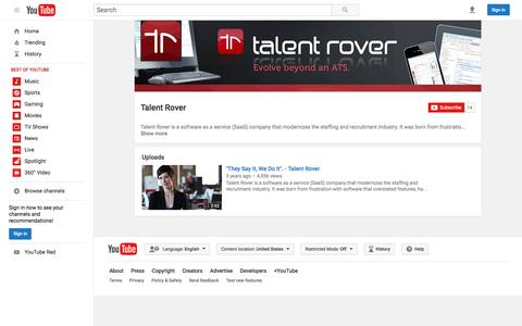 Talent Rover  - YouTube