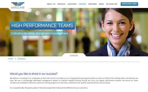Screenshot of Jobs Page aerocare.com.au - Careers | Aerocare - captured Feb. 5, 2016
