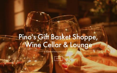 Screenshot of Home Page pinosshop.com - Pino's Gift Basket Shoppe, Wine Cellar & Lounge - captured Nov. 6, 2016