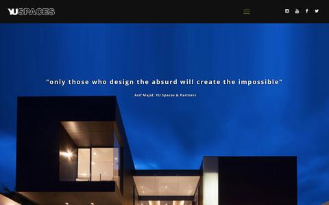 Screenshot of Home Page yuspaces.com - YU – The best contemporary residential in the World - captured Feb. 19, 2020