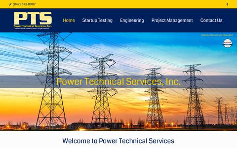 Screenshot of Home Page pwrtech.com - Home | Power Tech - captured Sept. 29, 2018