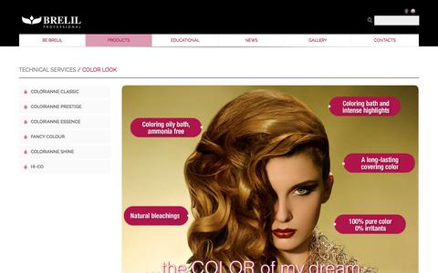 Screenshot of Products Page brelil.it - Brelil, Technical Services - Color Look - captured May 27, 2016