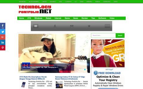 Screenshot of Home Page technology-portfolio.net - Technology Portfolio - Berita Teknologi Tebaru - captured June 5, 2016