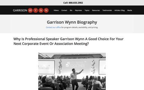 Screenshot of About Page motivational-speaker-success.com - Keynote Speaker Bio | Motivational Speaker Success - captured Dec. 23, 2017