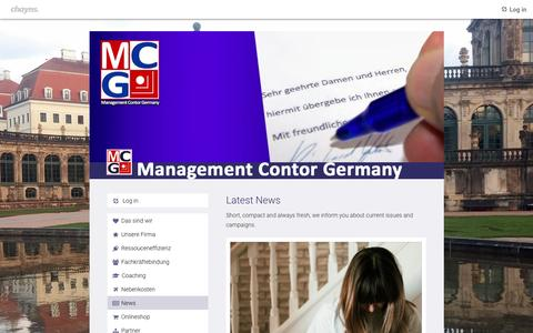 Screenshot of Press Page mcg-consulting.de - News   Management Contor Germany - captured May 6, 2017