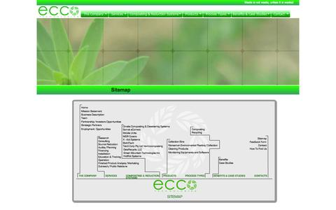 Screenshot of Site Map Page ecco-technologies.com - Welcome to Ecco Technologies - 100% Waste Management in California - captured Sept. 29, 2014