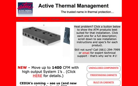 Screenshot of Home Page activethermal.com - quiet cooling home page - captured Oct. 4, 2014