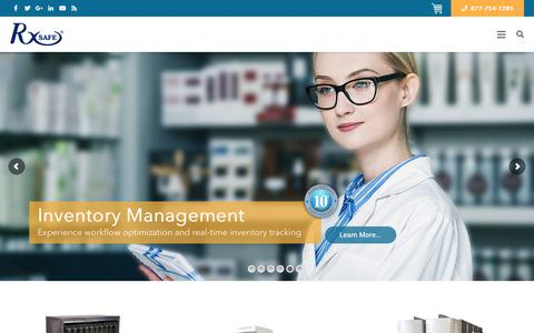 Screenshot of Home Page rxsafe.com - Pharmacy Automation Systems | Robotic Pharmacy Automation | RxSafe - captured Dec. 21, 2018