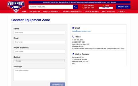 Equipment Zone - Contact Us