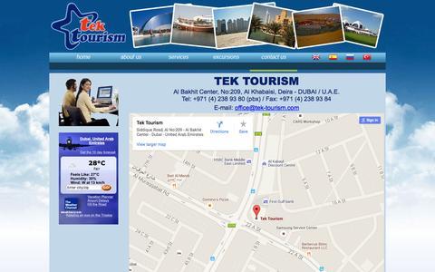 Screenshot of Contact Page tek-tourism.com - Tek Tourism   Dubai - captured Feb. 24, 2016