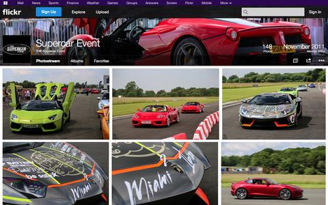 Screenshot of Flickr Page flickr.com - Flickr: THE Supercar Event's Photostream - captured Oct. 25, 2014