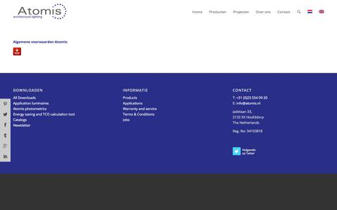 Screenshot of Terms Page atomis.nl - Algemene Voorwaarden - Atomis - captured Oct. 9, 2017