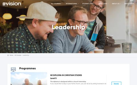 Screenshot of Team Page visioncollege.ac.nz - Leadership - Vision College - captured Oct. 26, 2018