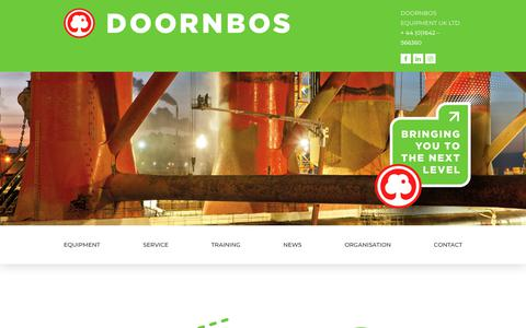 Screenshot of Home Page doornbosequipment.co.uk - Homepage - Doornbos Equipment : Doornbos Equipment - captured Feb. 7, 2018