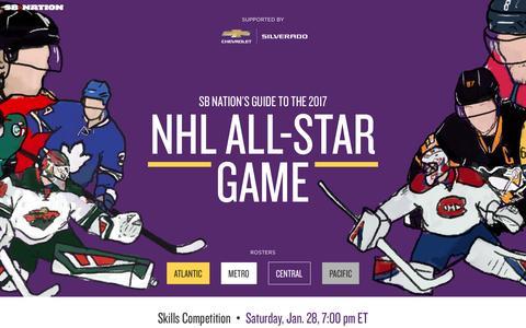 Screenshot of sbnation.com - 2017 NHL All-Star Game Preview - captured Jan. 26, 2017